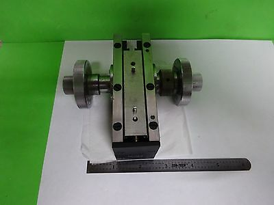 Microscope Part Zeiss Germany Micrometer Stage Brass Heavy As Is Biny7-03