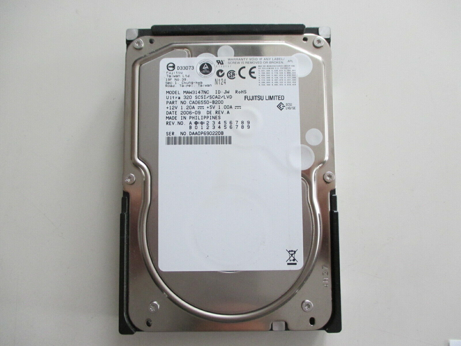 FUJITSU 147 GB MAW3147NC SCSI SCA 80-pin HDD Test ok siehe Foto