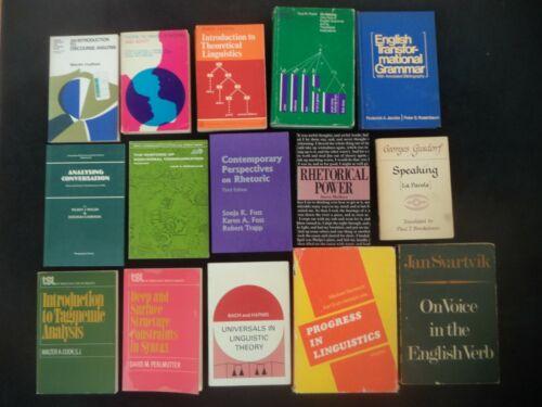 15 Book Lot: LINGUISTICS Theoretical Discourse Analysis Syntax Grammar Rhetoric