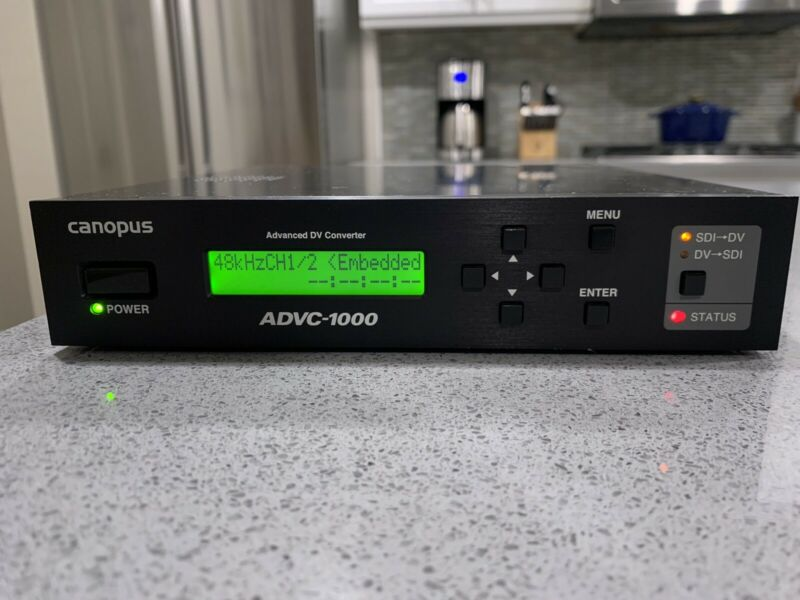 GRASS VALLEY CANOPUS ADVC-1000 BIDIRECTIONAL SDI TO IEEE-1394 A/V RS-422 SUPPORT