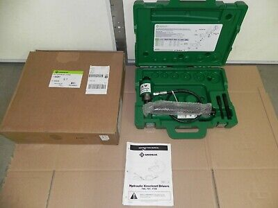 New Greenlee 7646 11-ton Hydraulic Knockout Driver With Hand Pump