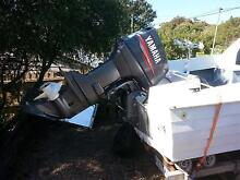 """Fibreglass half cab fishing boat; Unicorn """"Hornet""""; 70 HP Yamaha Clifton Springs Outer Geelong Preview"""
