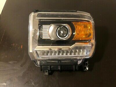 2014-2019 GMC Sierra 1500 2500 3500 Headlight Left LH Driver Halogen W/ LED OEM