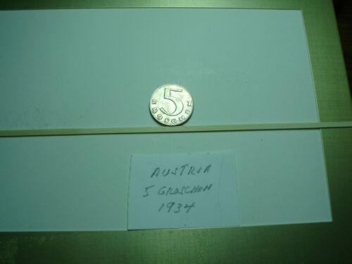 Old World Coins - Austria 5 Groschen 1934