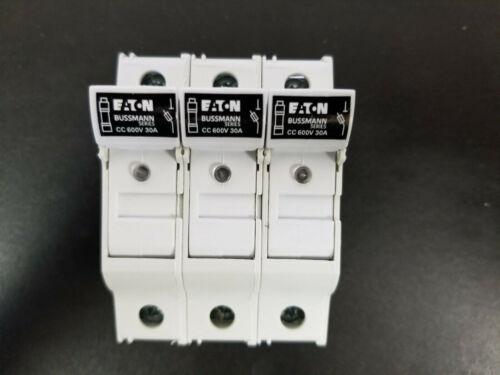 Box of 4 EATON BUSSMANN CHCC3DIU Fuse Block,Class CC,30A,3 Pole