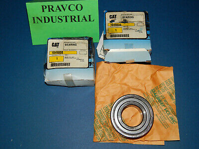 Lot Of 2 Cat Forklift 1049808 Ball Single Shield Bearing