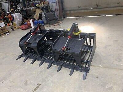 Skid Steer 72 Inch Heavy Duty Rock Grapple Bobcat Caterpillar Gehl Mustang Asv