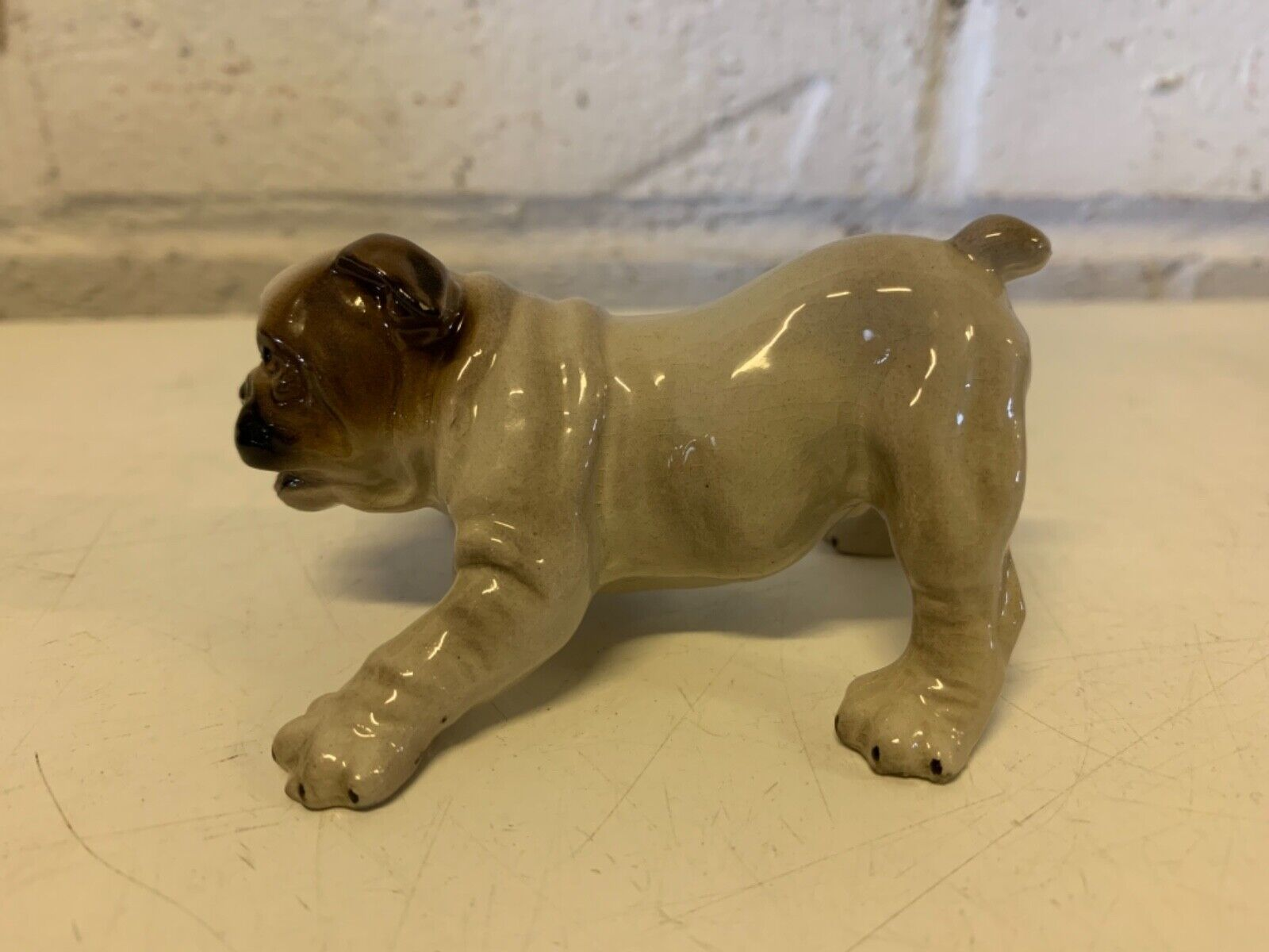 Vtg collection vitré porcelaine hager-renaker nobby bulldog anglais figurine