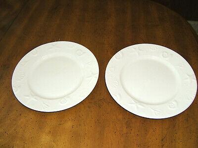 SET 2~THOMSON POTTERY WHITE DINNER PLATES SEASHELLS~BEACH~NAUTICAL 10.5 INCH  EU - Seashell Plates