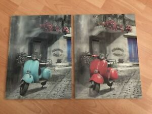 Hologram Vespa hanging wall art - sturdy backing