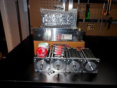 Gecko G540 Rev 8 4 Nema 23 600oz 14in Dual Shaft 48v 12.5a Power Supply