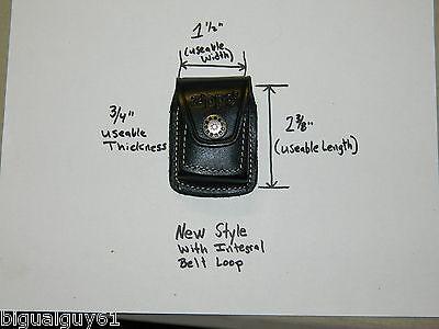 Black Leather Zippo Lighter Belt Holder Holster Pouch USA St