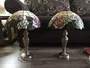 Pair of Tiffany Inspired Lamps