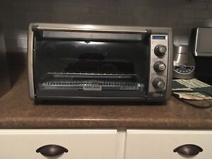 Black and Black Decker Counter top convection oven