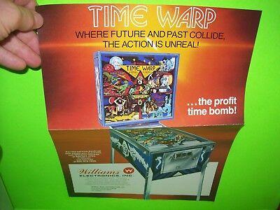 TIME WARP Pinball Machine Flyer WILLIAMS 1979 Original Fold Out Color Sci-Fi Art