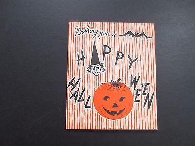 #K210- RARE! Vintage Unused Halloween Greeting Card Pop Up Scary Skeleton - Halloween Pop Ups Scary