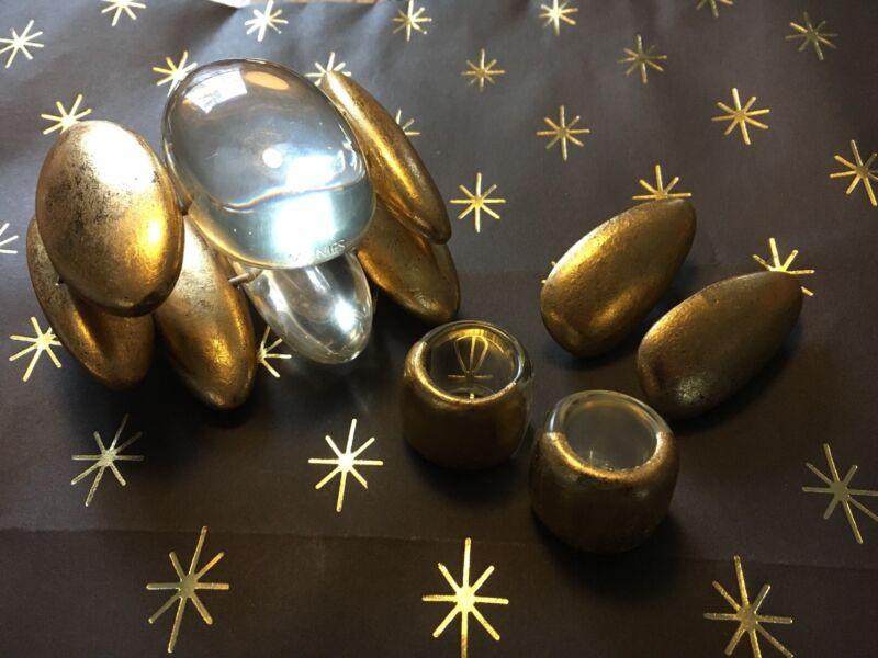 MONIES massive SET gold foil gerda lynggaard Bracelet, Earrings, 2 Rings