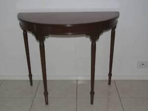 Semi Circle Side Table In Mahogany Wood
