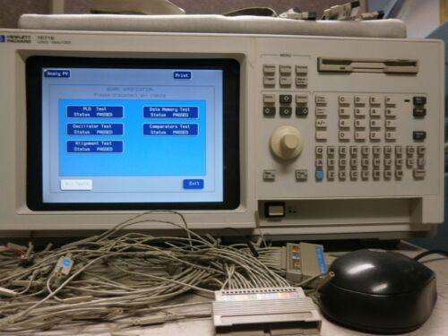 HP 1671E Logic Analyzer 102 Channel 250 MHz Ethernet Color HDD Kbrd COMPLETE!