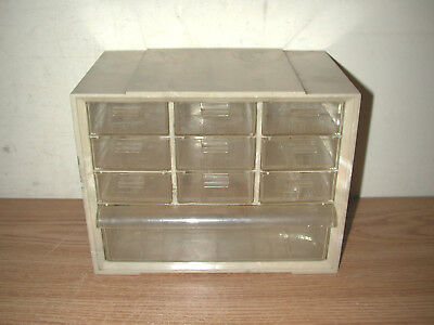 Vintage Akro-mils 10-drawer Hardware Parts Plastic Storage Cabinet
