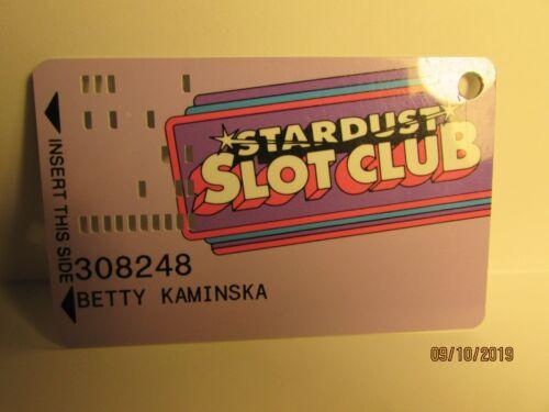 Stardust Casino- Slot Club Card- las Vegas,NV- now closed- older version-Nice