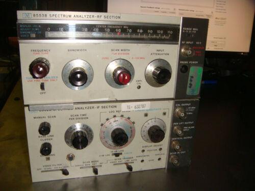 HP 8553B 110Mhz RF AND 8552A IF PLUG IN  Modules For HP 141T #TQ399