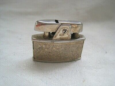 VINTAGE Pocket LIGHTER RONSON Metal UNUSUAL Design Smoking Tobacciana