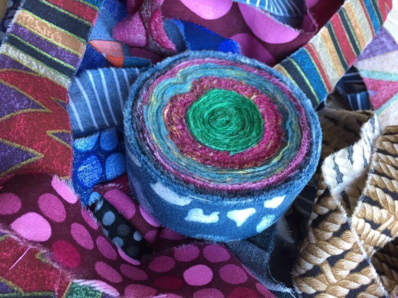 Rag Rug Fabric Strips Rugmaking Yarn Amish Knot - Bold & Dark - 1 Roll 15 yds