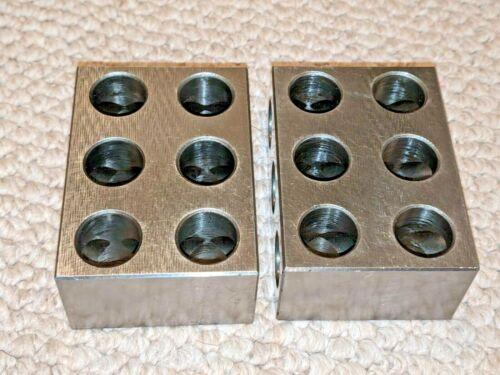 1 1⁄2 - 2 1⁄2 - 3 1⁄2 Setup Blocks, Hardened Steel, Lot of 2