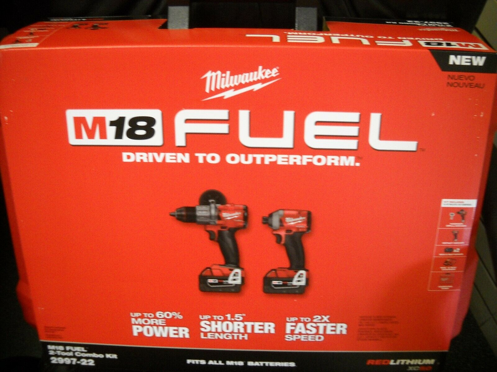 Milwaukee 2997-22 M18 Hammer Drill & Impact Driver Combo Kit