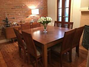 Lovely square Dining Table & Eight Chairs East Albury Albury Area Preview