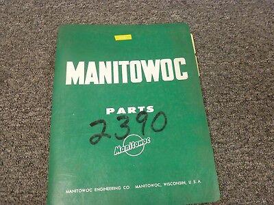 Manitowoc Model 3900t Vicon Lattice Boom Truck Crane Parts Catalog Manual