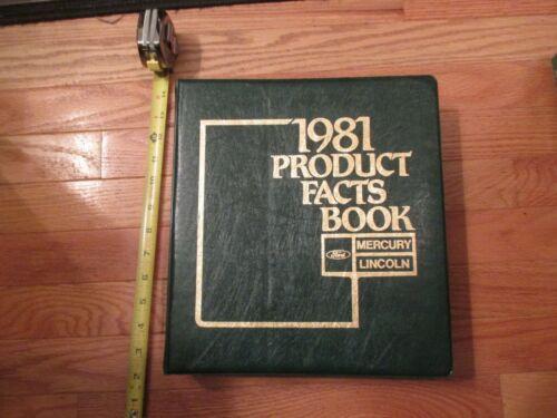 1981 Mercury Lincoln product Car Dealership dealer Sales book catalog #157