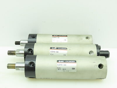 Smc Ncgbn40-0300 Pneumatic Double Acting Air Cylinder 1.5bore 3stroke Lot Of 3