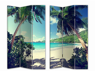 HTI-Line Paravent Palmen Sichtschutz Spanische Wand Raumteiler NEU OVP ()