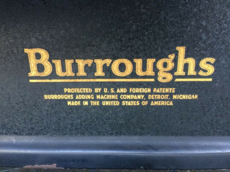 Vintage Burroughs Cashier Register Machine Condition Good as it, Still Workable.