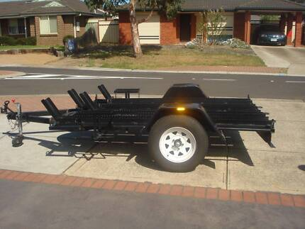 MOTORBIKE TRAILER HOLDS  4 or 3 / 2/ 1 DIRT BIKES WITH RAMP  7X5