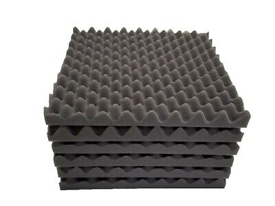 "9 pack Acoustic Soundproofing Egg Crate Foam Tiles 1.5"" x 12 x 12 (Dark Grey)"