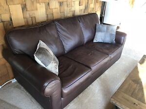 Good Quality Brown Leather Sofa