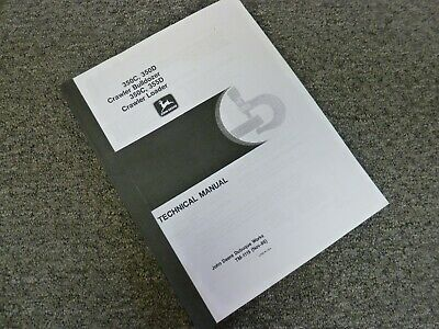 John Deere 350c 355d Crawler Loader Shop Service Repair Manual Tm-1115