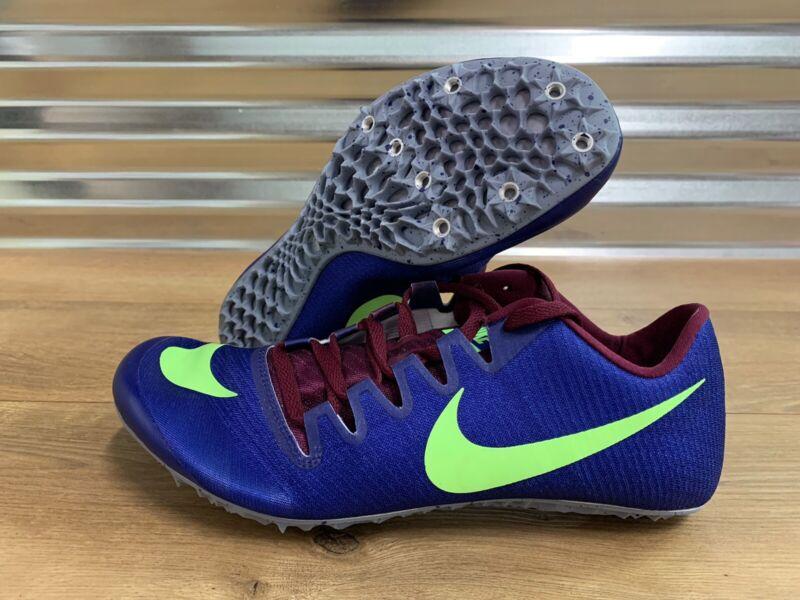 Nike Zoom JA Fly 3 Track Running Spikes Bordeaux Purple Green SZ ( 865633-500 )