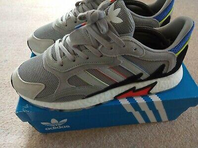Adidas Originals Boost Tresc Run Grey Suede trainers UK size 10 worn 3 times VGC