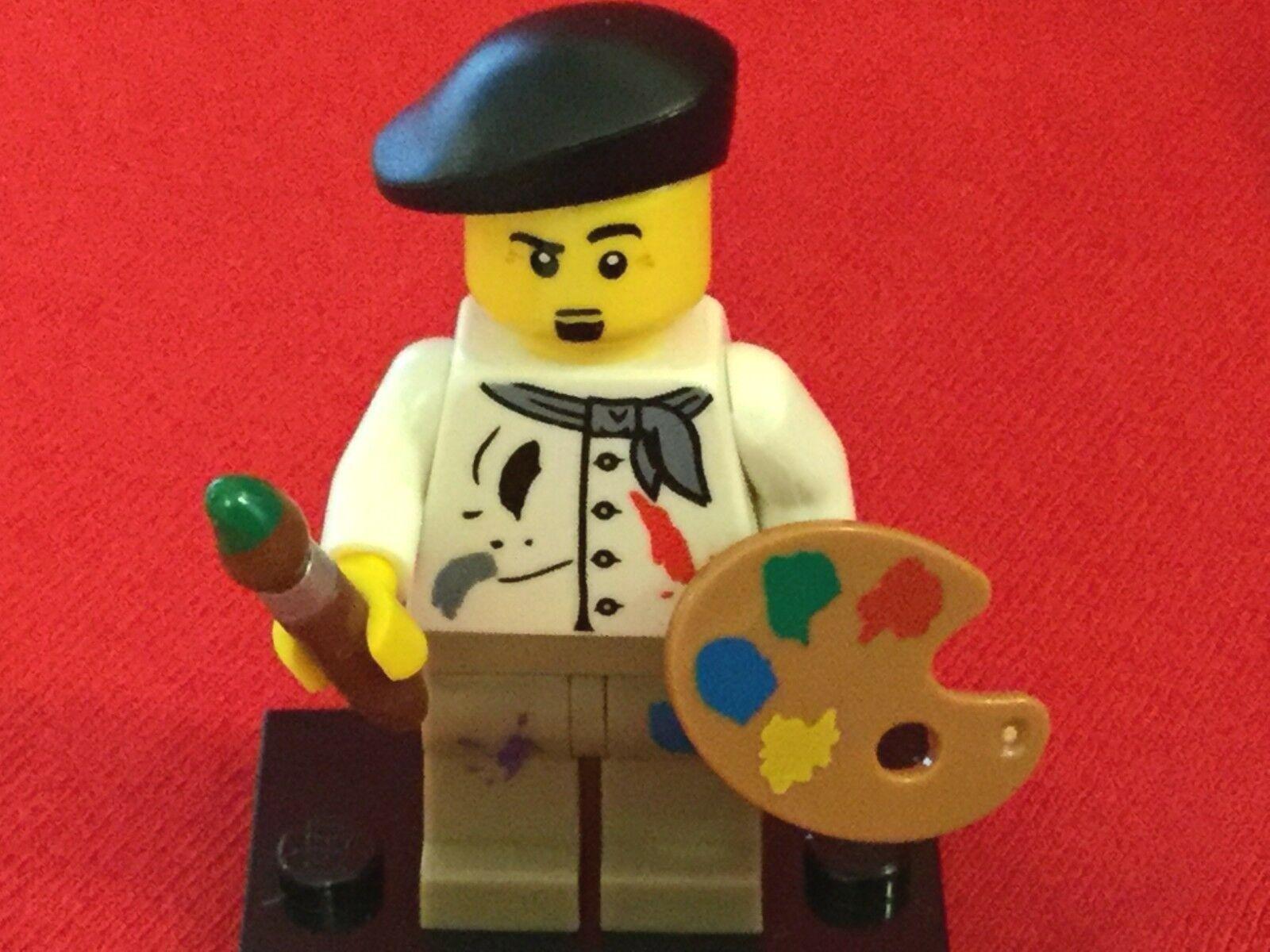 """NEW LEGO /""""PUBLIC T.V HIPPIE ARTIST/"""" MINIFIG figure minifigure paint painter"""
