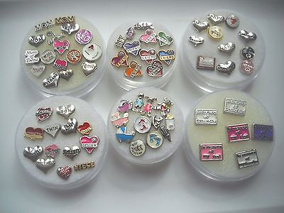 Floating Charms for Glass Lockets Family Friends, Baby,Love my Grandkids,Memory