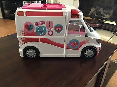 Barbie FRM190 Care Clinic Ambulance Toy