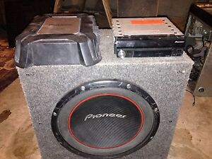 Pioneer sub amp and deck