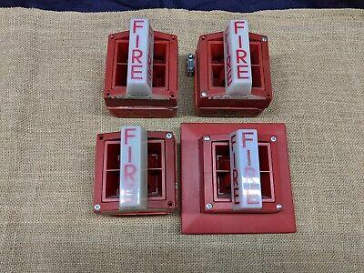4 System Sensor SR Strobe Red and 1 P2r for sale online