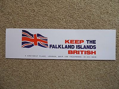 "Quality Reproduction Of Original 1982  ""KEEP THE FALKLANDS BRITISH""  Window Sign"