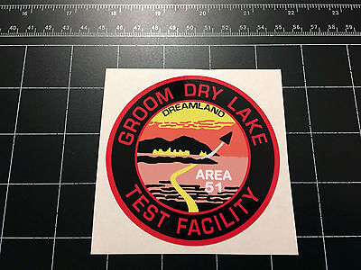 Area 51   Groom Dry Lake Test Facility Logo Decal Sticker Roswell Ufo Alien Et