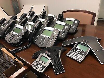 Polycom Business Phone System Lot Ip450 Ip550 Soundstation Ip5000 Ip7000